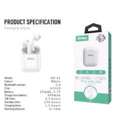 ΑΚΟΥΣΤΙΚΑ HP-41 Bluetooth Air Pods 2 (white)
