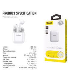 ΑΚΟΥΣΤΙΚΑ HP-42 Bluetooth Air Pods 2 (white)